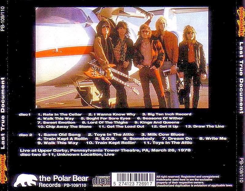 T U B E Aerosmith 1978 03 26 Upper Darby Pa Fm Flac